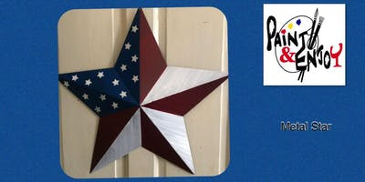 """Paint and Enjoy at Naylor Wine  Shoppe """"Metal Star"""""""