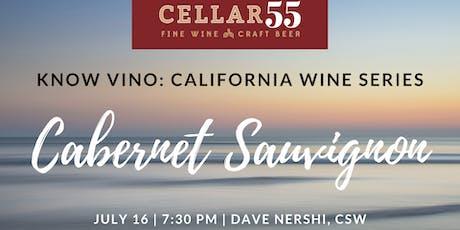 Know Vino -  California Cabernet Sauvignon tickets