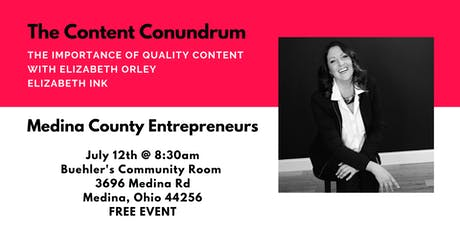 The Content Conundrum with Elizabeth Orley tickets