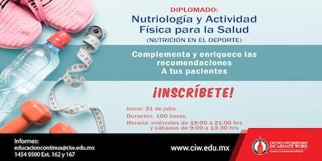 Clase abierta: Diplomado en nutriología y actividad física para la salud boletos
