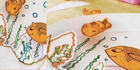 Mini Makers - Kids Craft workshop – Card aquarium tickets