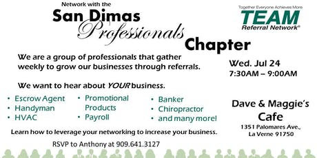 San Dimas Professionals Chapter Invitation Day tickets
