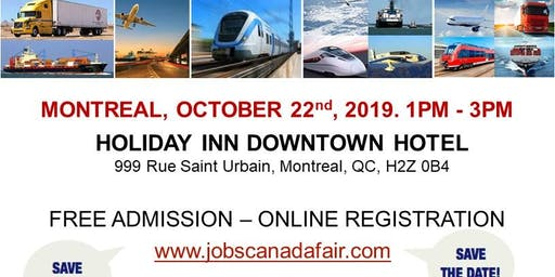 Montreal Transportation Job Fair – October 22nd, 2019