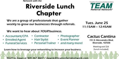Riverside Lunch Chapter Invitation Day