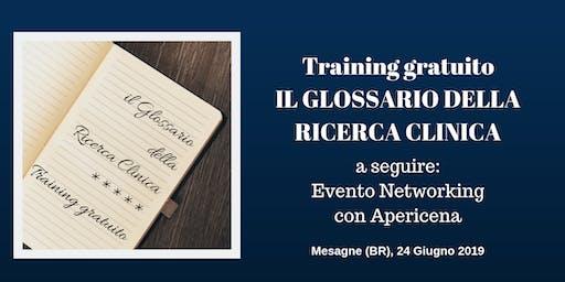 Training Gratuito a Mesagne (BR): Il Glossario della Ricerca Clinica