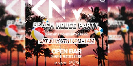 KNVS Beach House Party at McGee's tickets