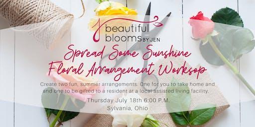Spread Some Sunshine Floral Arrangement Workshop