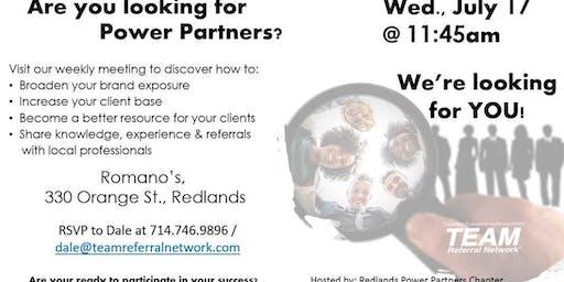 Redlands Power Partners Networking Workshop