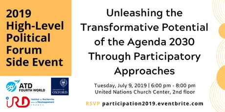 Unleashing the Transformative Potential of the Agenda 2030 Through Participatory Approaches tickets