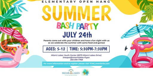 Elementary Open Hang: Summer Bash