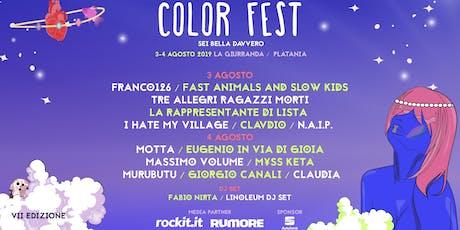 Color Fest 7 - Sei Bella Davvero biglietti