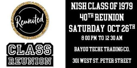 NISH CLASS OF 1979 ~ 40TH REUNION tickets