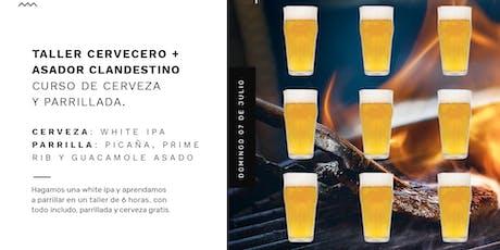 Preventa Curso de cerveza y parrillada de Taller Cervecero y Asador Clandestino entradas