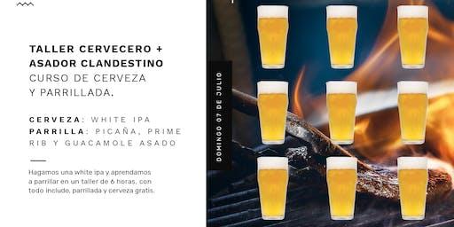 Preventa Curso de cerveza y parrillada de Taller Cervecero y Asador Clandestino