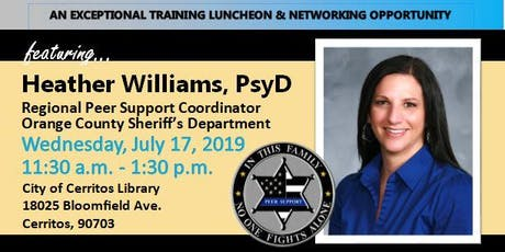 WLLE_LAC Luncheon Training - Peer Support with Heather Williams, PsyD tickets