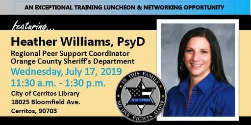WLLE_LAC Luncheon Training - Peer Support with Heather Williams, PsyD