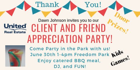Client and Friend Appreciation Party! DOOR PRIZES!! tickets