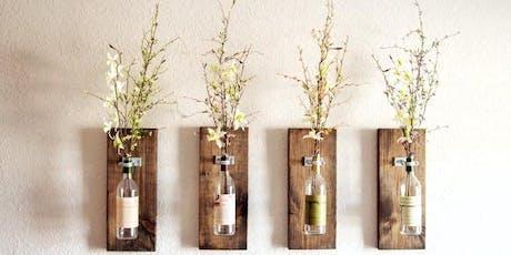 DIY Bottle Wall Vase tickets