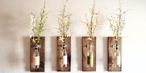 DIY Bottle Wall Vase