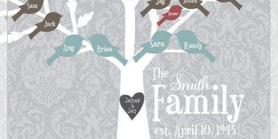 Paint a family tree - Perfect gift for Grandparents or a wedding! - BYOB