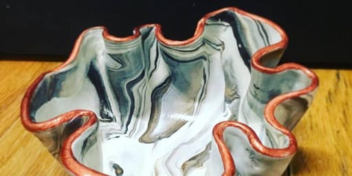 Wine Down Wednesday - Marbled sculpey bowls
