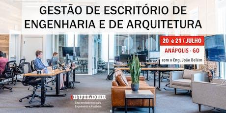 GESTÃO DE ESCRITÓRIO DE ENGENHARIA E DE ARQUITETURA ingressos