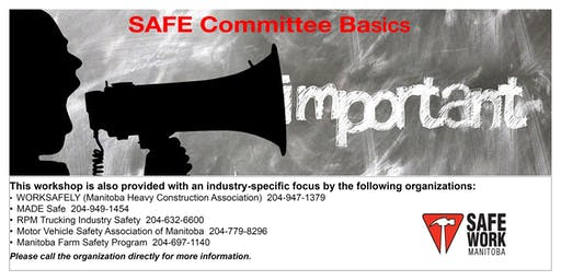 SAFE Committee Basics- Selkirk, MB