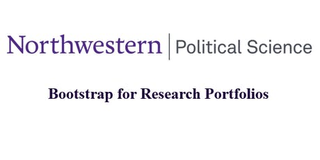 Bootstrap for Research Portfolios  tickets
