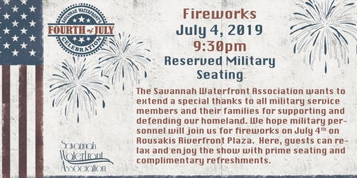 4th of July Reserved Military Seating 2019