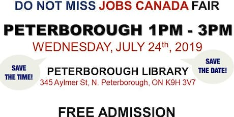 Free: Peterborough Job Fair - July 24th, 2019 tickets