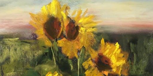 Wine Down Wednesday - Van Gogh Sunflower Painting