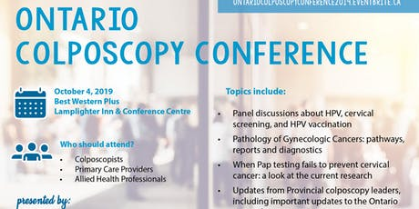 Ontario Colposcopy and Cervical Cancer Screening Conference tickets