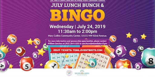 Lunch Bunch and Bingo-July 24th