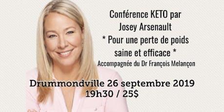 DRUMMONDVILLE - Conférence KETO Pour une perte de poids saine et efficace! billets