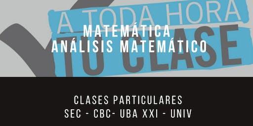 clases de matemática para cbc arquitectura psicologia medicina en Belgrano Palermo y Almagro