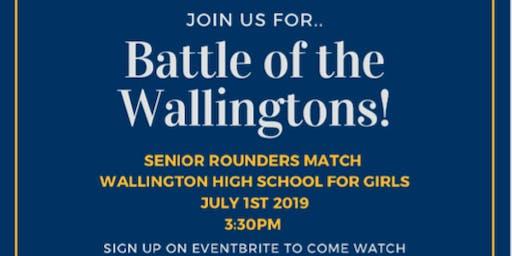Wally boys VS Wally girls rounders