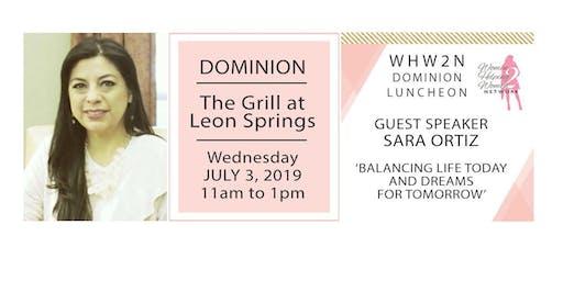 Women Helping Women 2 Network Dominion Lunch