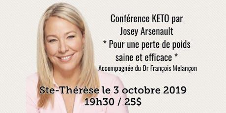 STE-THÉRÈSE - Conférence KETO Pour une perte de poids saine et efficace!  tickets