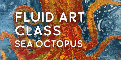 Fluid Art Class – Sea Octopus
