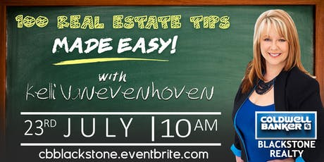 100 Real Estate Tips Made Easy with Kelli V. tickets