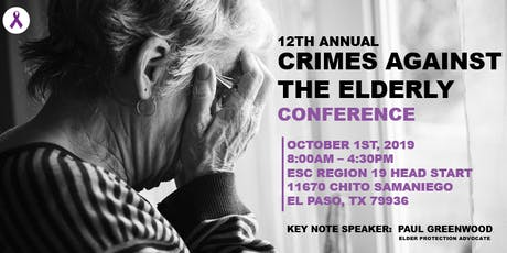 12th Annual Crimes Against the Elderly Conference tickets