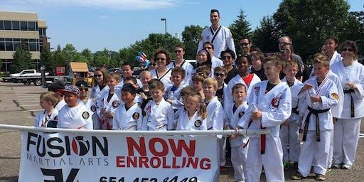Fusion Martial Arts at the Eagan 4th of July Parade