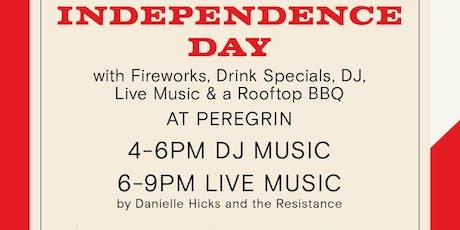 Rooftop BBQ, DJ, Live Music & Fireworks at Peregrin tickets