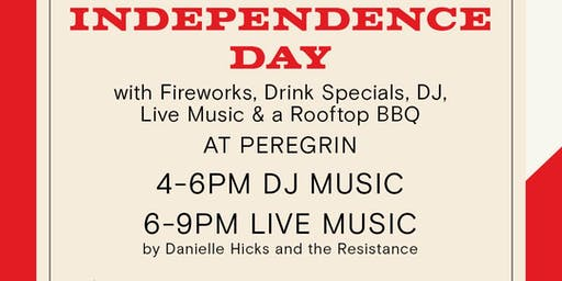Rooftop BBQ, DJ, Live Music & Fireworks at Peregrin