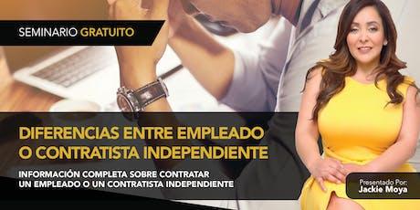 Diferencias Entre Empleado o Contratista Independiente tickets