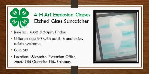 4-H Faux Etched Glass Suncatcher Workshop