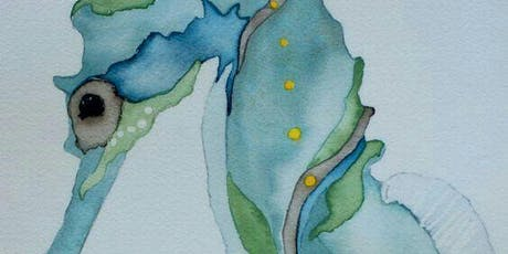 Watercolor Seahorse Paint Night tickets