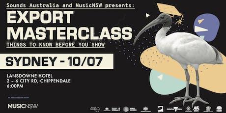 Sounds Australia Export Masterclass: Sydney tickets