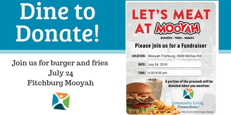 Mooyah Fundraiser for CLC tickets