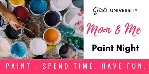 Mom and me Paint Night - Summer Painting